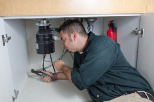 Plumber Checking Garbage Disposal
