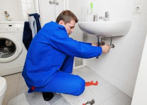 Plumber Checking Drains